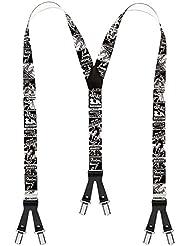 Bretelles de haute qualité avec 6 clips - Edelweiss / Biere / Artisan / Music / Jazz / Wall Street Design