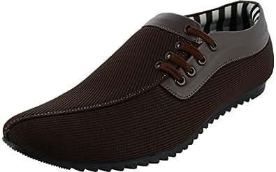 ESENSE Men's Dark Brown Synthetic Casual Shoes - 6