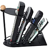 Cpixen Remote Control Organizer, Space Saving Metal TV Remote Control Storage Organizer, Caddy,Rack,Organizer, Black Pretty Handy Remote Control Tidy Remote Holder And TV Remote Organizer