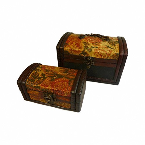Ancient Wisdom Lot de 2 boîtes coloniaux – Or Rose
