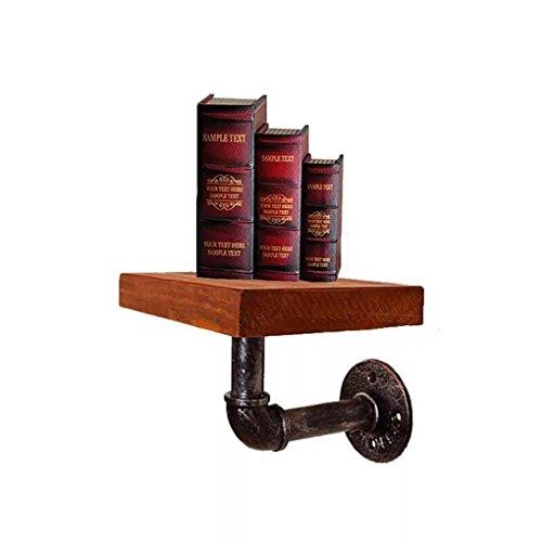 FLM Bücherregale Rohr Regal - Halterung Schwebender Holz Wandregale