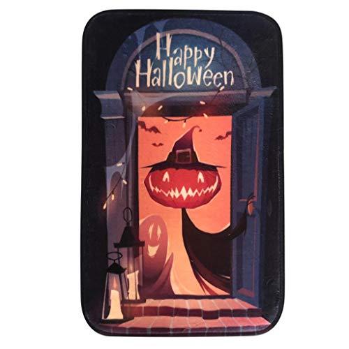 Mitlfuny Halloween coustems Kürbis Hexe Cosplay Gast Ghost Schicke Party Halloween deko,Halloween Teppich Küche Tür Bad Boden Teppich Bodenmatte Kürbis - Teppich Fancy Dress Kostüm