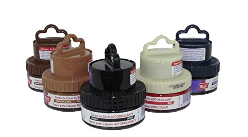 Palc - Crema Tarro Ceras Esponja Limpiar Brillo Piel Negro 50 mililitros