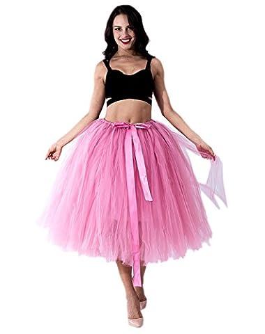Honeystore Damen's Tüllrock Maxirock Lang Tüll Rock Tutu Hochzeit und Party Prinzessin Ballettrock One Size (Einfache Selbst Gemachte Kostüme Für Halloween)