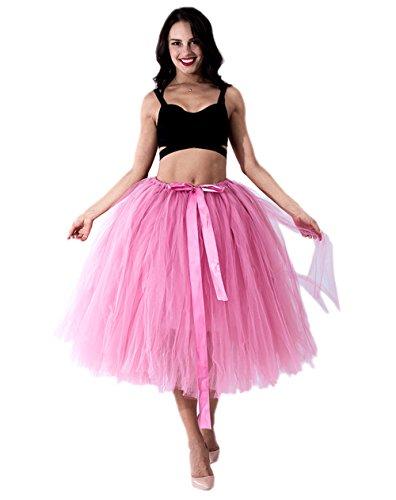 Honeystore Damen's Tüllrock Maxirock Lang Tüll Rock Tutu Hochzeit und Party Prinzessin Ballettrock One Size (Puppe Selbstgemacht Kostüm Halloween)