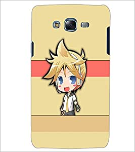 PrintDhaba Cute Girl D-5385 Back Case Cover for SAMSUNG GALAXY ON 5 (Multi-Coloured)