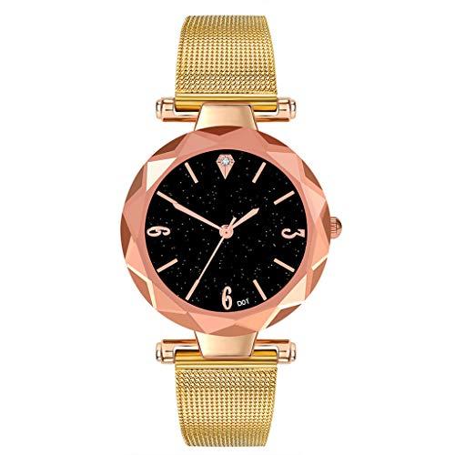 Frauen Sternenklarer Himmel Uhr LSAltd Damen Mode Frauen Luxusuhr Analog Quarz Elegante Armbanduhr Heißer