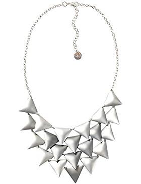 DESIGUAL Damen-Halskette Global traveller Versilbert-72G9EJ62015U