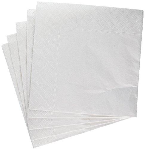 Caspari Pearl Cocktail-Servietten, aus Papier, 20Stück, weiß -
