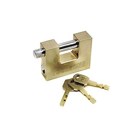 70mm Verschluss Schloss / Schloss / 3 Schlüssel Sicherheit solide Schuppen Garage Storage TE603 (Geschlossenen Trailer)