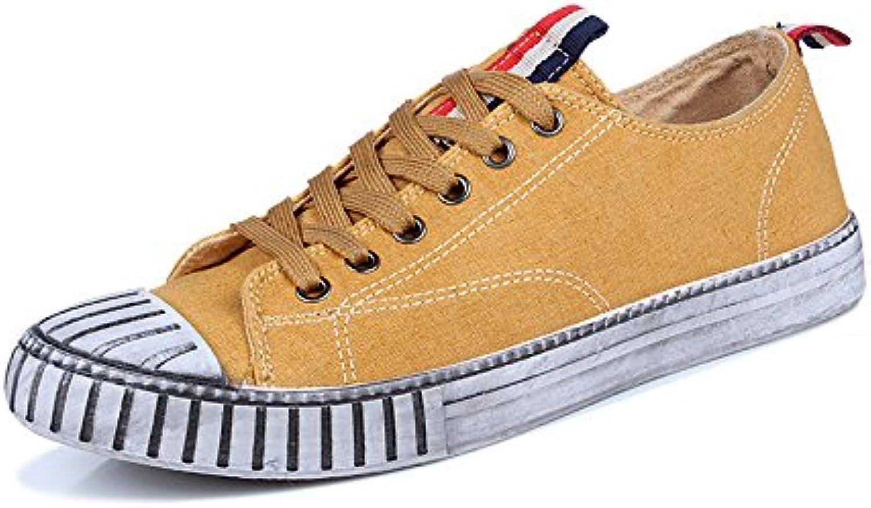 Skateboard Shoes zapatos casuales hombres japoneses Shell cabeza hombres casual zapatos de lona,Amarillo,Cuarenta