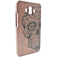 RoseFlower Huawei Mate 10 Funda de Madera - Cráneo de Palo de Rosa - Natural Hecha a mano de Bambú / Madera Carcasa Case Cover