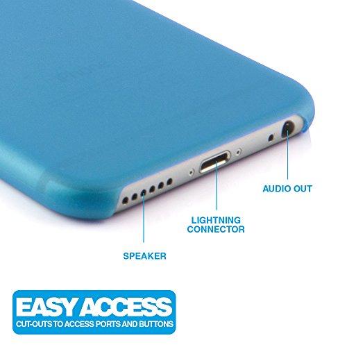 """iPhone 6 / 6s (4,7 Zoll) Schutzhülle """"Ultra thin"""" - Ultra dünnes Case weiß aus Polypropylen - transparente Hülle von MC24® für iphone6s blau"""