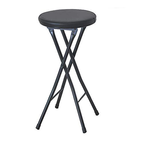 folding chairs lzpq Home Klapphocker - Hochleistungsklappbarer, gepolsterter, runder Hocker mit einem Fassungsvermögen von 287 Pfund, Perfekter Küchenruhehocker, Barhocker, Gegenhöhe