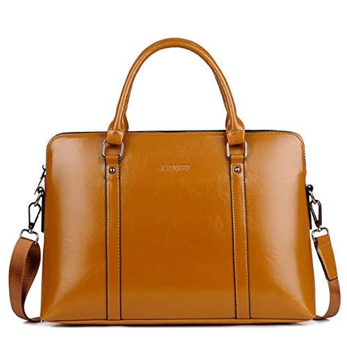 Mode pu männer Frauen Laptop Handtasche Notebook Computer hülle Taschen tragen büro 13 14 15 Zoll Brown 14-inch (Kenneth Cole Aktentasche Braun)