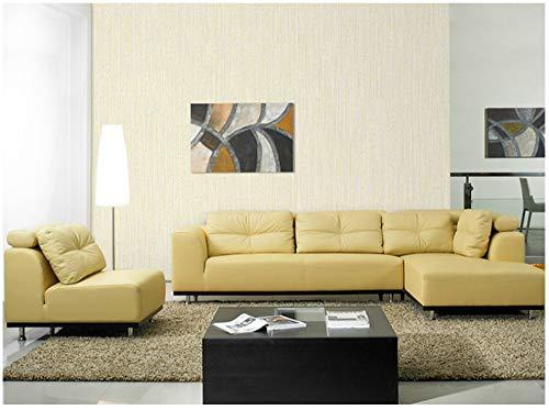 Tapete Kunst grau-gelbe Streifen moderne Vliestapete Poster Wand-Dekor für Hotel Büro Wohnzimmer Küche