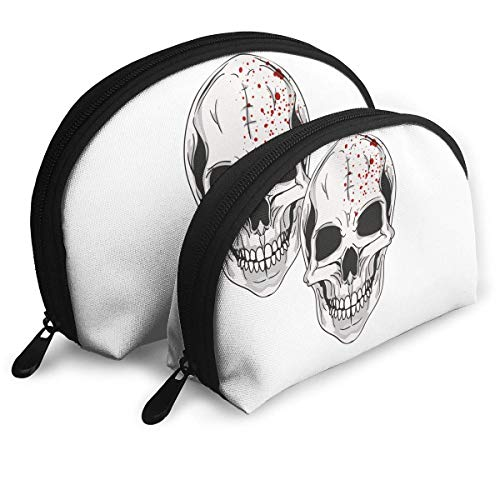 Portable Shell Makeup Storage Bags Halloween Skull Logo Travel Waterproof Toiletry Organizer Clutch Pouch for Women