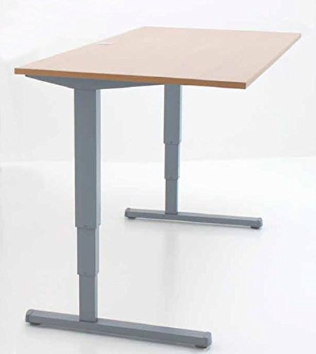 Elektrisch Verstellbarer Schreibtisch mit Tischplatte Buche-Optik 200x80cm