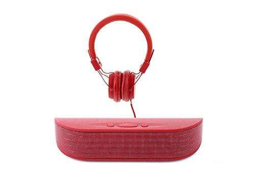 Bundle: Wireless Bluetooth Lautsprecher und Stereo-Kopfhörer Kompatibel mit jeder Audio-Gerät einschließlich Smartphones und Tablets (Vivitar Bluetooth-lautsprecher)