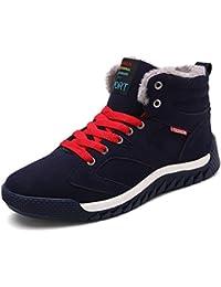 SITAILE Hombre Otoño Invierno Botines Calentar Botas De Nieve Anti-deslizante Lazada Zapatos Botas de Trabajo