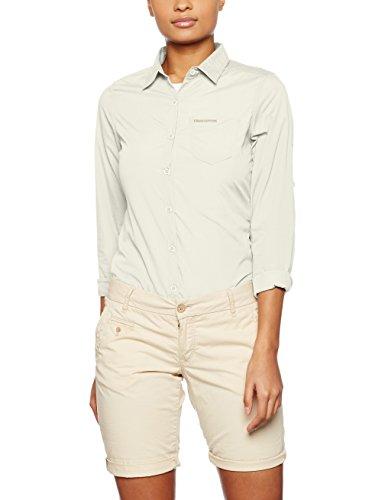 Craghoppers Damen Kiwi Langarm Shirt–Sea Salz, 14,0