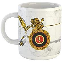 Morons Ceramic Royal Challengers Bangalore Coffee Mug with Handle-Perfect for Gifting | RCB | Virat Kohli Coffee Mug | IPL Fever | Printed Ceramic Coffee Mug | Pack of 1, 350ml