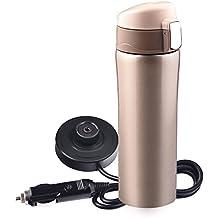 Taza de café taza de calentamiento eléctrico del coche 12V-24V 400ML Coche de acero
