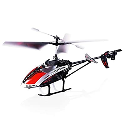RC Helicopter, 3.5 Channel Durable Remote Controlled Helicopter with Gyro and LED Light for Indoor Outdoor, Ready to Fly RC Airplane Model Best Birthday Christmas Gift for Boys & Girls and Even Adults