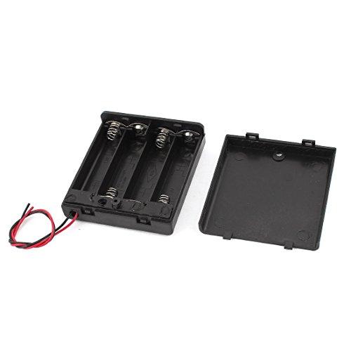Sourcingmap Conduit Plastique Noir 15cm 4X Piles AA Interrupteur Batterie Porte-Cas