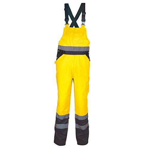 Cofra Warnschutz Latzhose Tuttle V294 Arbeitshose in Signalfarbe, gelb, 40-00V29403-M