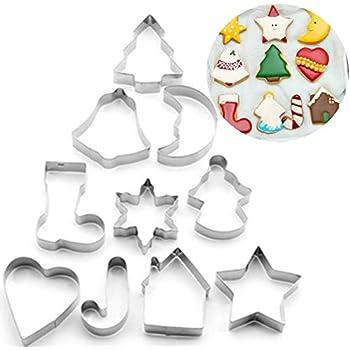 Set Cookie Cutter moule Forme de coeur de cuisine Fleur Star Circle 12PCS