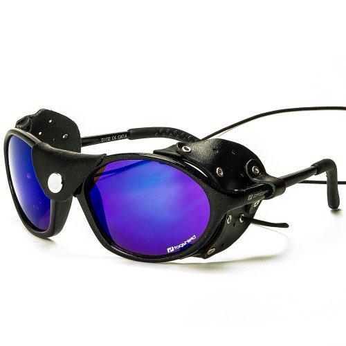 Daisan schwarze Gletscherbrille Bergsteigerbrille mit Kat. 4 Gläser