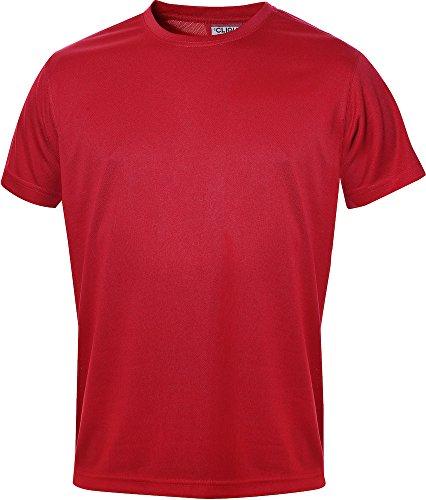 Polyester S/s Shirt (Herren Funktions T-Shirt aus Polyester von CLIQUE. Das T-Shirt für den Sport, perforiert und feuchtigkeitsabführend in 10 Farben S M L XL XXL XXXL XXXXL (Rot, XL) von noTrash2003®)
