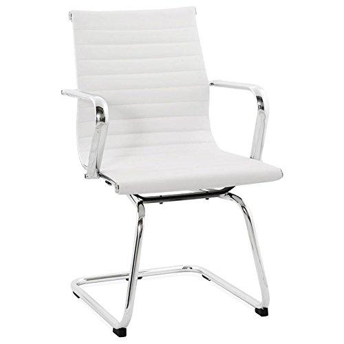 Paris Prix - Chaise De Bureau oméga Blanc