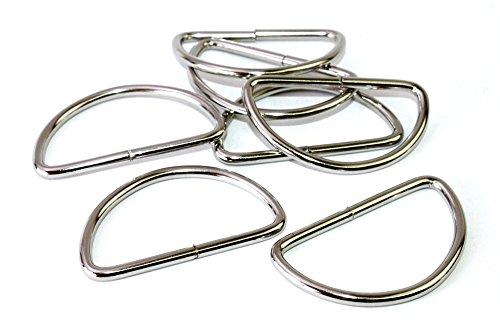 D-Ringe 10 Stück 50x25x3,9mm Halbrundringe Stahl