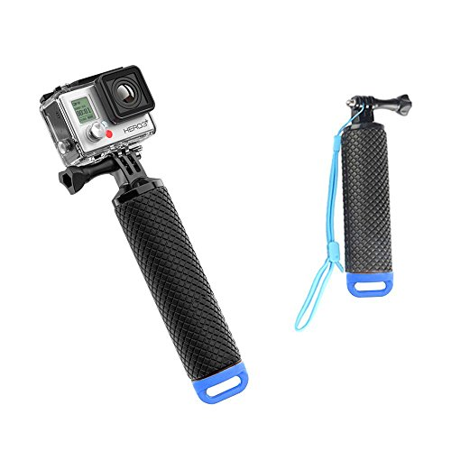 Gopro Floating Hand Grip Tripod Stick, FTUNG Waterproof Hand Tripod Mount Floating Handle Grip Handle Mount Water Sport Pole for Gopro Hero 5/ Gopro Hero 3+ 4 Session 3 GeekPro 3.0 and ASX Action Pro Cameras Action Camera Accessories (Blue)