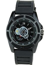BELLOS - Herren Armbanduhrschwarz Quarz Stahl Analog Display Typ stilvoll Sport Modus Armband schwarzSilikon