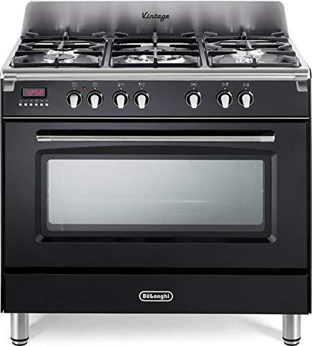 De Longhi MEM 965 NX Linea Mastercook Cucina a Gas 5 Fuochi con Forno Elettrico Ventilato 90x60, colore Antracite