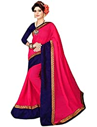 Dharmi Enterprise Women's Georgette Saree With Blouse Piece (Gsm-41 _Blue)
