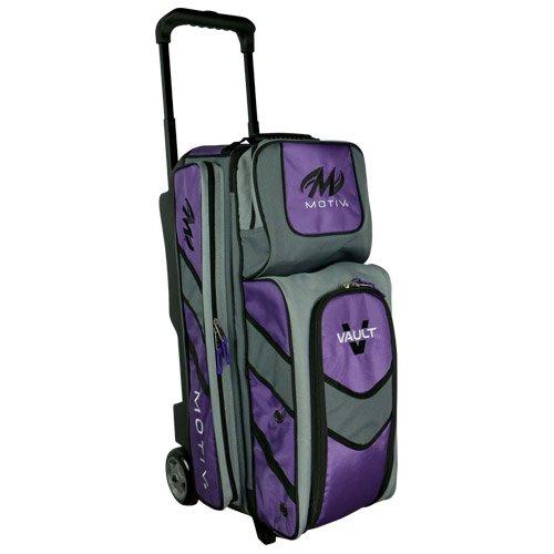 Motiv und Vault 3Ball Roller Bowling Bag Schwarz/Grau/Lila