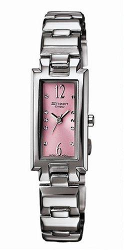 Casio Casio Collection Damen SHN-4007D-4AEF - Reloj de mujer de cuarzo con correa de acero inoxidable plateada