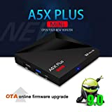FidgetGear A5X Plus Smart TV Box for Android 9.0 Rk3328 Quad Core 4K H.265 HDR10 USB3.0 2G/16G Mini Media Player British regulations Electronic Accessories