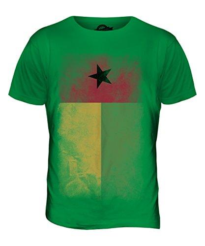 CandyMix Guinea-Bissau Verblichen Flagge Herren T Shirt Grün