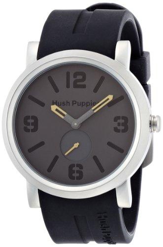 Hush Band (Hush Puppies Schwarzes Silikon Band dunkel graue Zifferblatt Herrenuhr HP.3670M.9502)