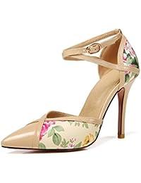 Damas Sandalias, Hebillas, Sandalias, Sexy Zapatos de Tacon Alto, Sandalias, Tacones y Sandalias,De Color Albaricoque...