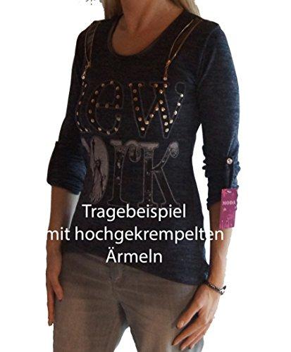 Am Laufsteg Maglietta a maniche lunghe, maniche per rimboccarle qualità morbida calda, ruvido, modello a scelta ModellNewYork beige