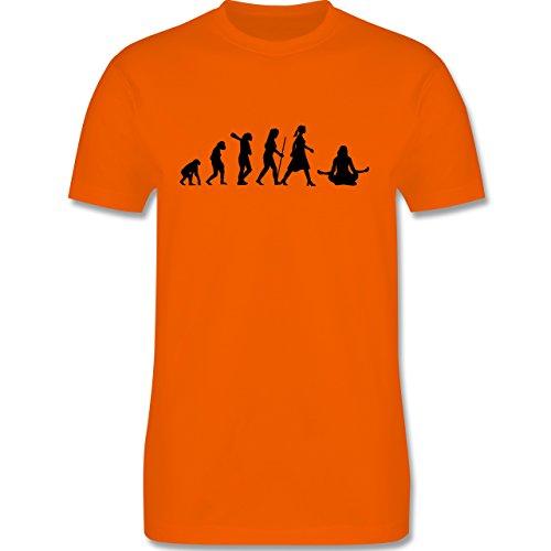 Evolution - Meditation Evolution - Herren Premium T-Shirt Orange