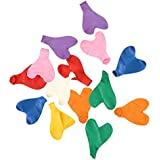 GB Balloons Plain Multicolor Hearts Large Party Balloons 12pc