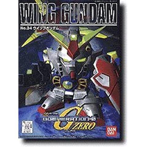 Bandai Hobby BB#34 Wing Gundam, Bandai SD Action Figure by Bandai Hobby
