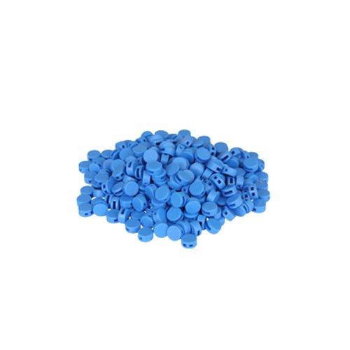Preisvergleich Produktbild 250 St. Kunststoffplomben blau 8mm - Plomben